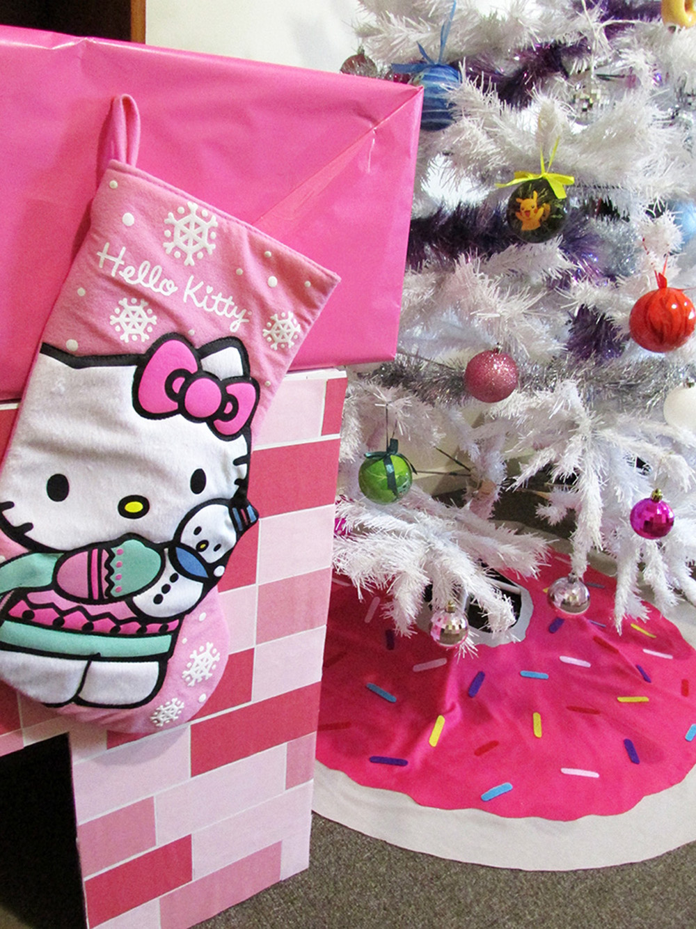 hello kitty stocking diy christmas tree skirt thesmalladventurer donut