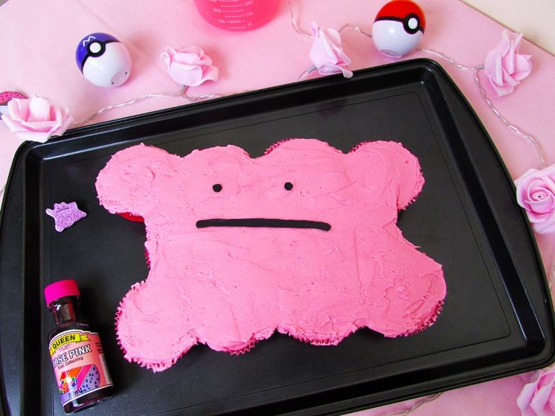cupcake pull apart cake Ditto thesmalladventurer Pokemon