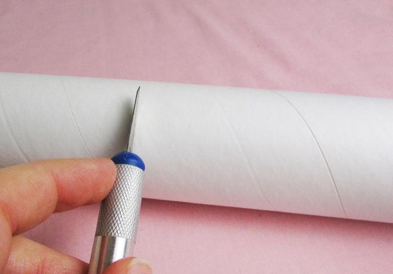 cut tube to size 2 DIY project lipstick money box thesmalladventurer