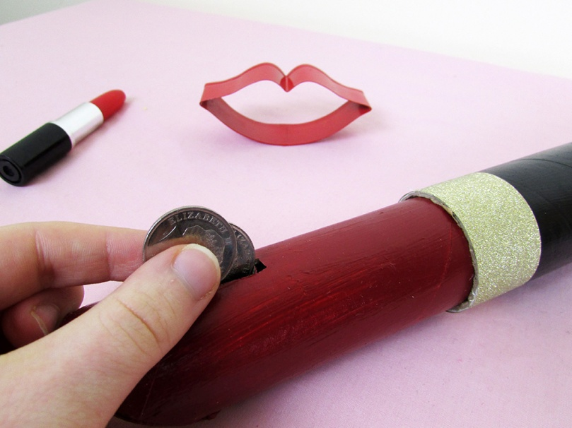 money box thesmalladventurer DIY project lipstick