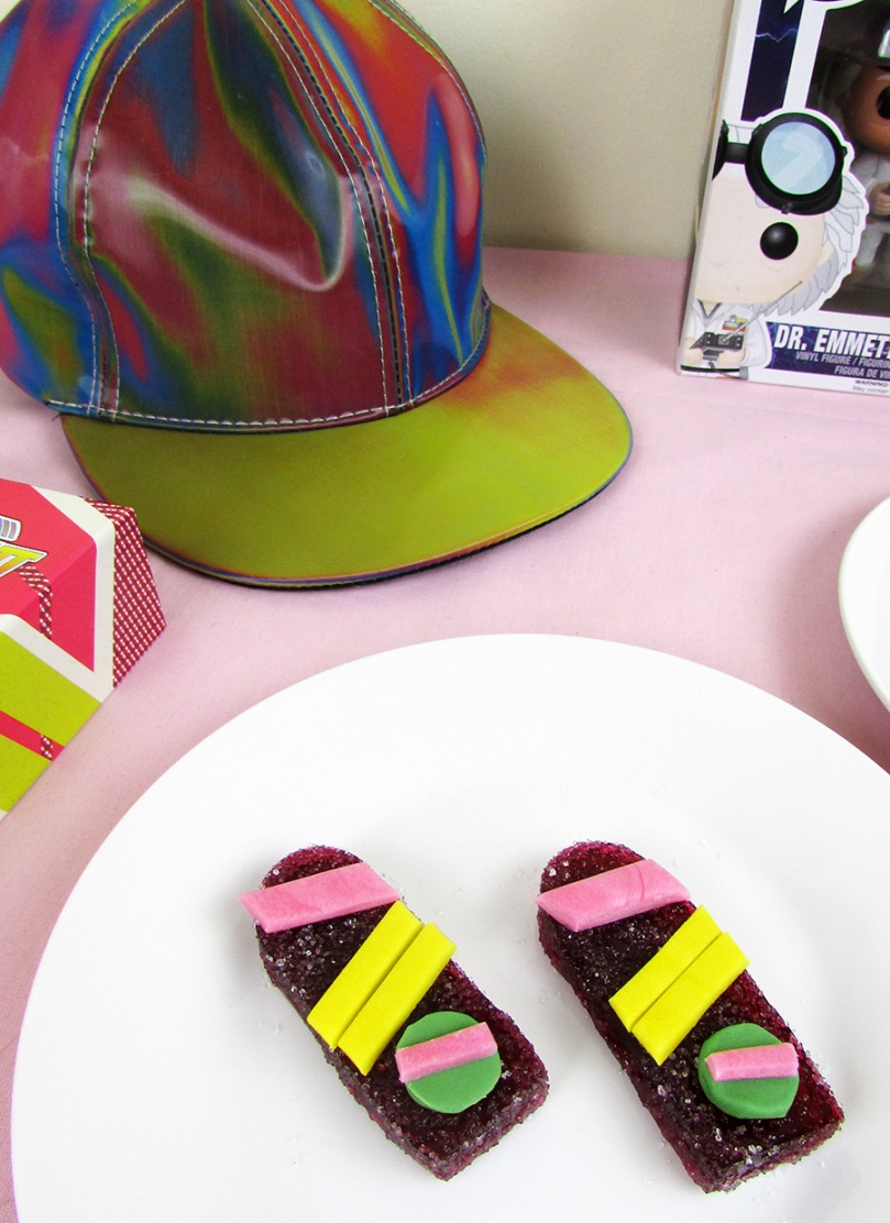 back to the future hat hoverboard sour gummy thesmalladventurer