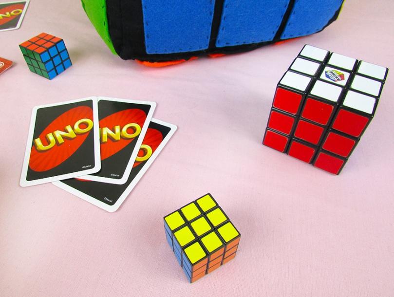 UNO cards Rubik's Cube thesmalladventurer