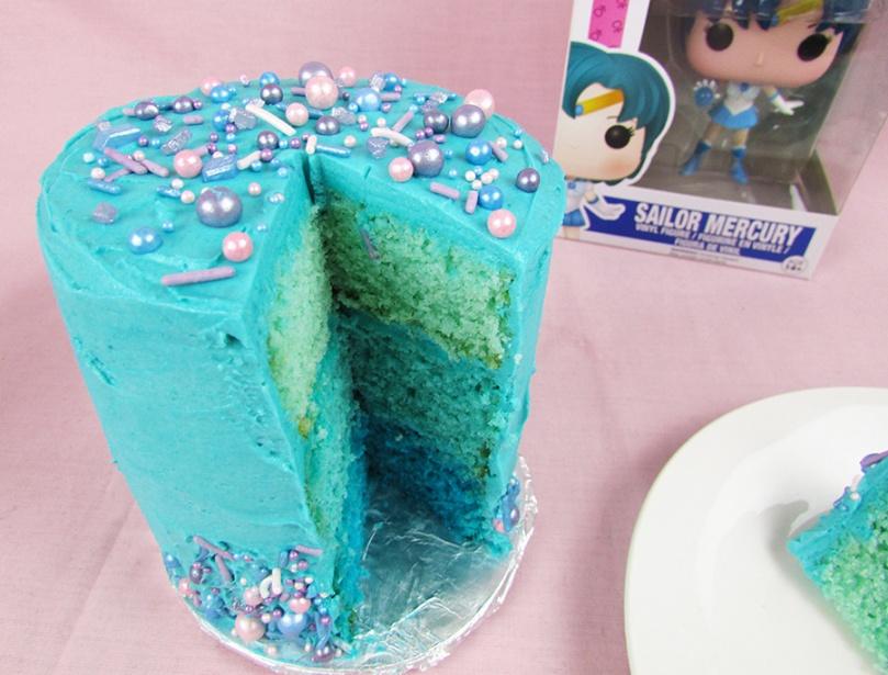 sailor moon sailor mercury thesmalladventurer ombre cake