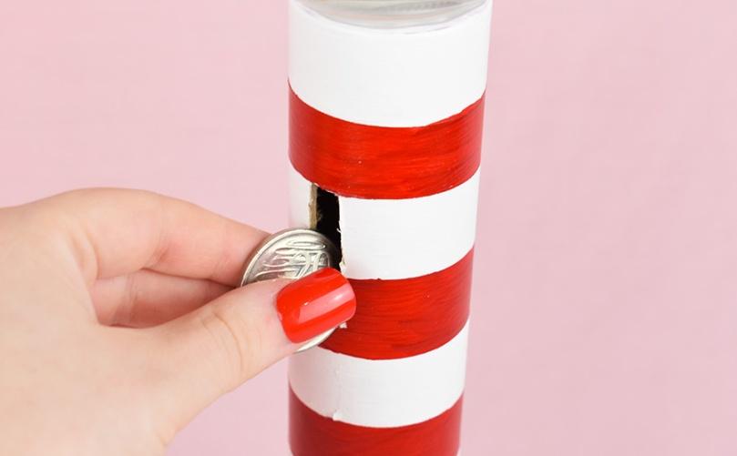 money box lighthouse diy project