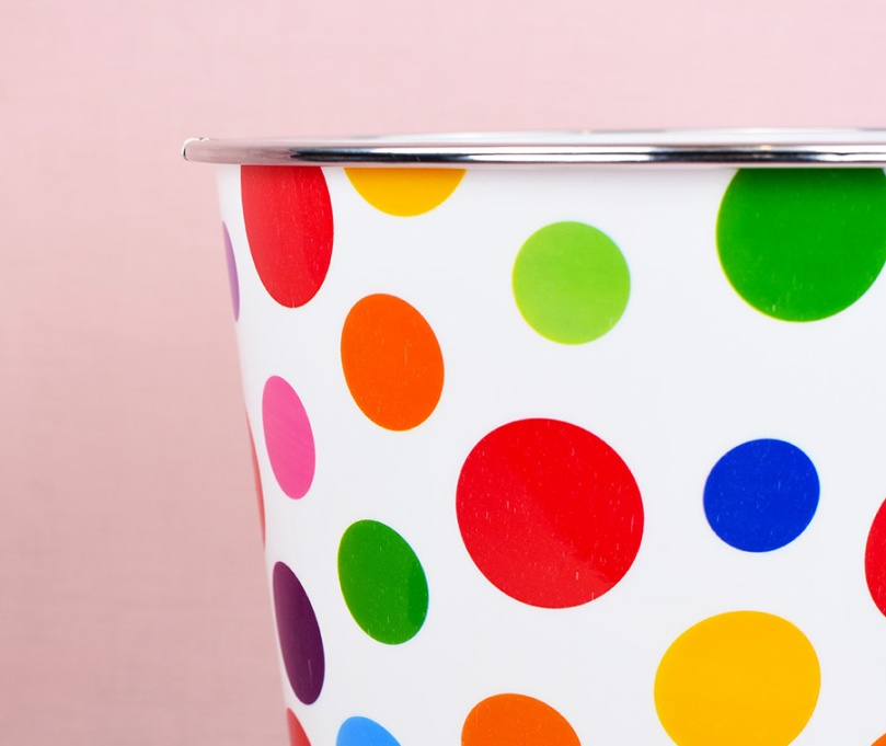 TRY polka dot bin declutter clean organise thesmalladventurer.jpg